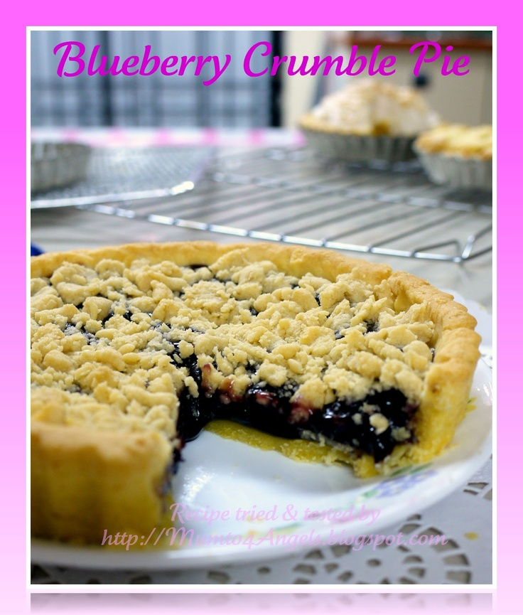 Blueberry Crumble Pie | Pie & Cobblers | Pinterest