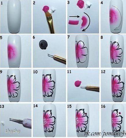 Мастер класс ногтевого дизайна с лентами