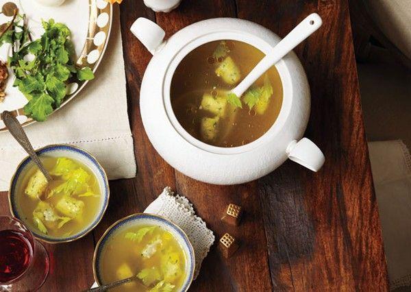 Matzo gnocchi soup from Bon Appétit Magazine