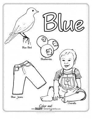 The Color Blue Lesson 1 4 Aiw 178 Home School Club Blue Coloring Pages