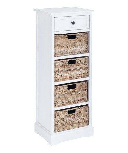 Wicker basket storage cabinet for Bathroom cabinet with baskets