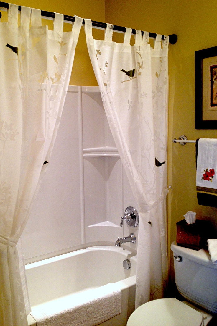 Use Window Curtains As A Shower Curtain
