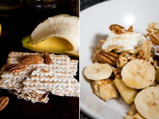 Recipe for Passover: Matzoh Brei with Bananas and Pecans. French toast ...
