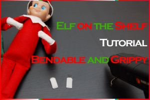 Hack your elf to make him bendable and grippy!  Thanks, @Leigh Ann Horn!