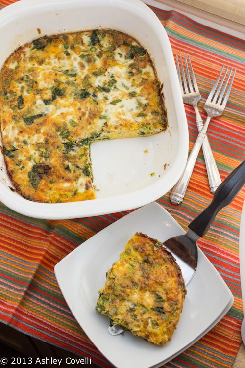 Spinach and Mozzarella Egg Bake...made this today and it was great!