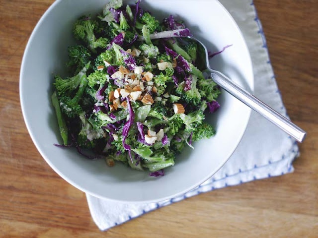 Salad With Broccoli, Dried Cherry, White Beans, Sunflower ...