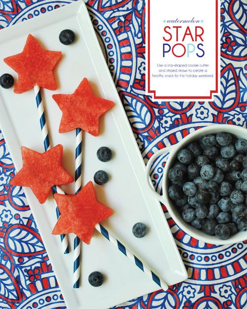 Watermelon Star Pops by thepartydress #Watermelon #thepartydress