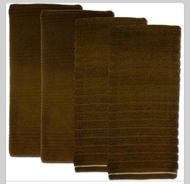 Brown kitchen towels ~   Deer Glamp ~   Pinterest