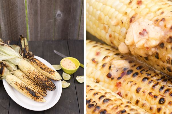 Grilled Corn with Chili Lime Honey butter