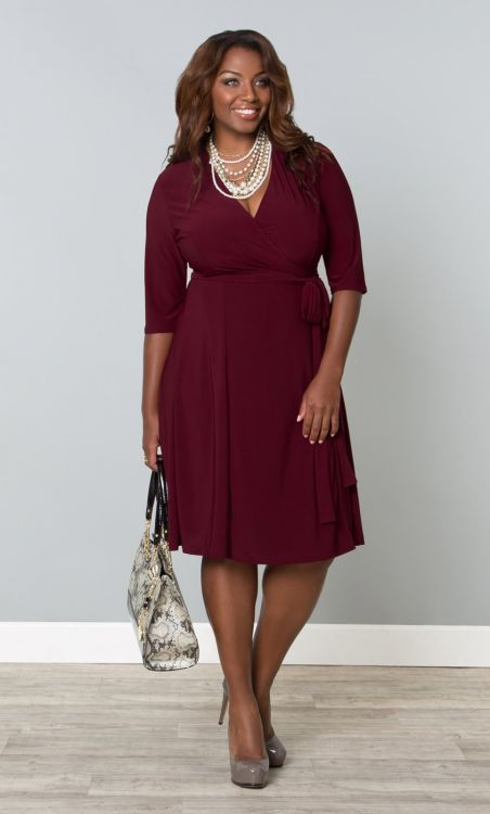 plus size dresses in crimson