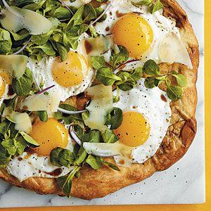 Sunny-Side-Up Pizza | MyRecipes.com