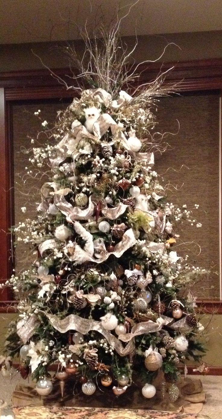 White burlap christmas tree christmas pinterest for White christmas tree pinterest