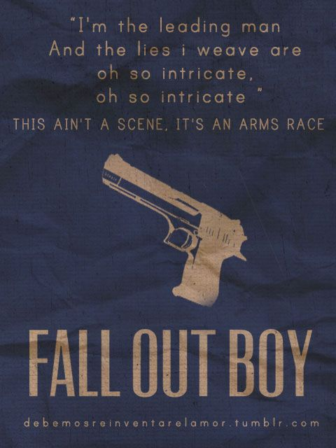 fall out boy this aint scene it an arms race