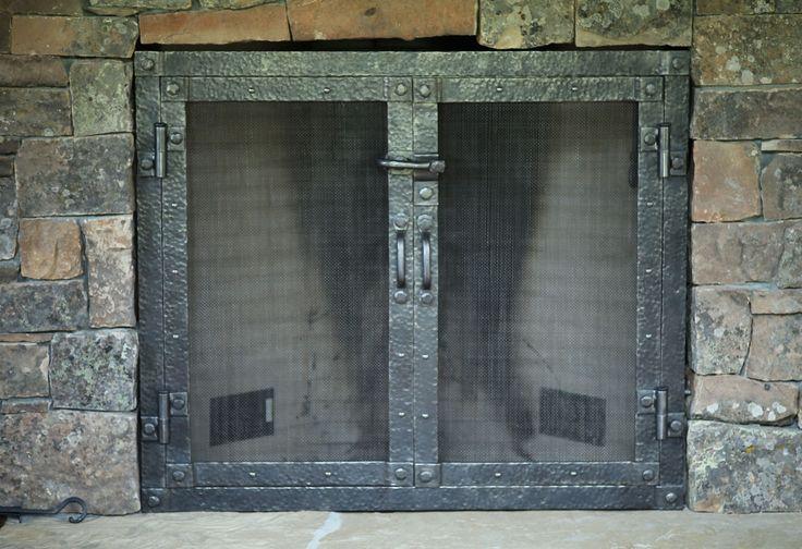 Fitted Flat Door Fireplace Screen Fireplace Ideas Pinterest