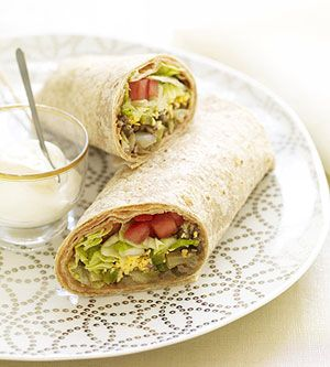 Sixteen Minute Beef And Bean Burritos Recipe — Dishmaps