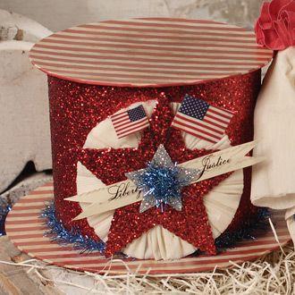 Americana Hat Box