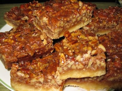 Pecan Squares! for recipe: http://www.foodnetwork.com/recipes/ina ...