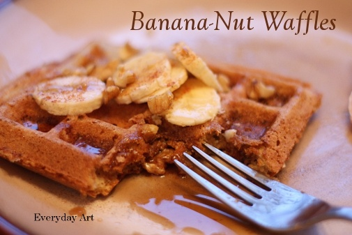 Banana-nut waffles | Breakfast/Brunch | Pinterest