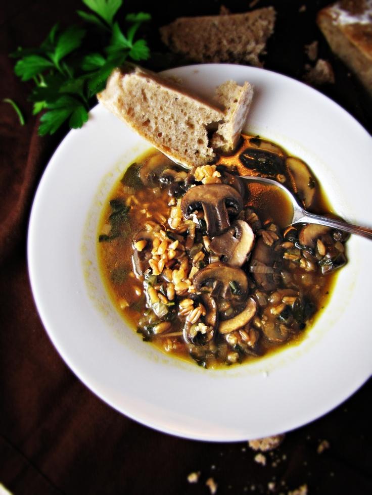 Mushroom & farro | Soups | Pinterest