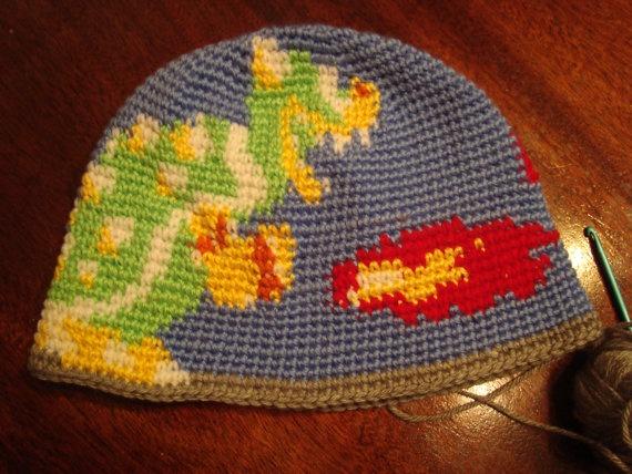 crocheted bowser hat Crochet Video Game Themed Items Pinterest