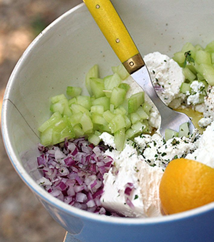 Cucumber and Feta Salad | yummy - salads | Pinterest