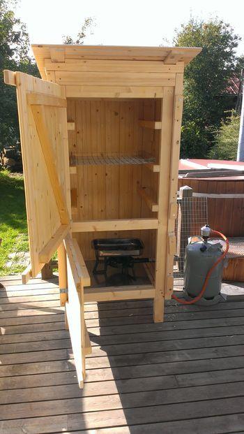 DIY smoker | Outdoor kitchen BBQ smoker | Pinterest