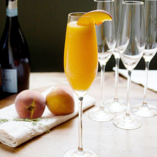 Peach Thyme Bellini. I need to make it to the farmer's market at least ...