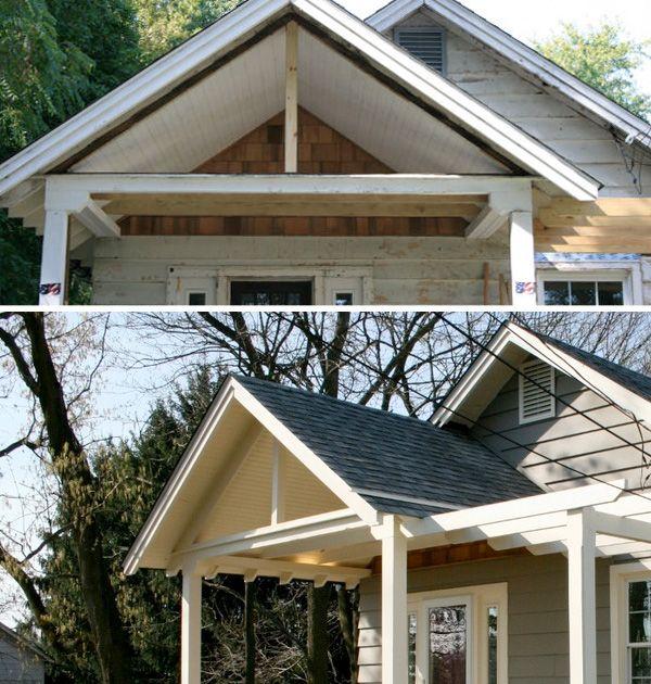 Exposed truss porch pinterest for Maison design com