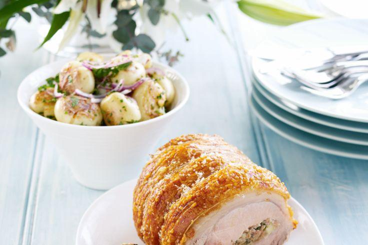 smashed potato salad | Christmas lunch (cold salads) | Pinterest