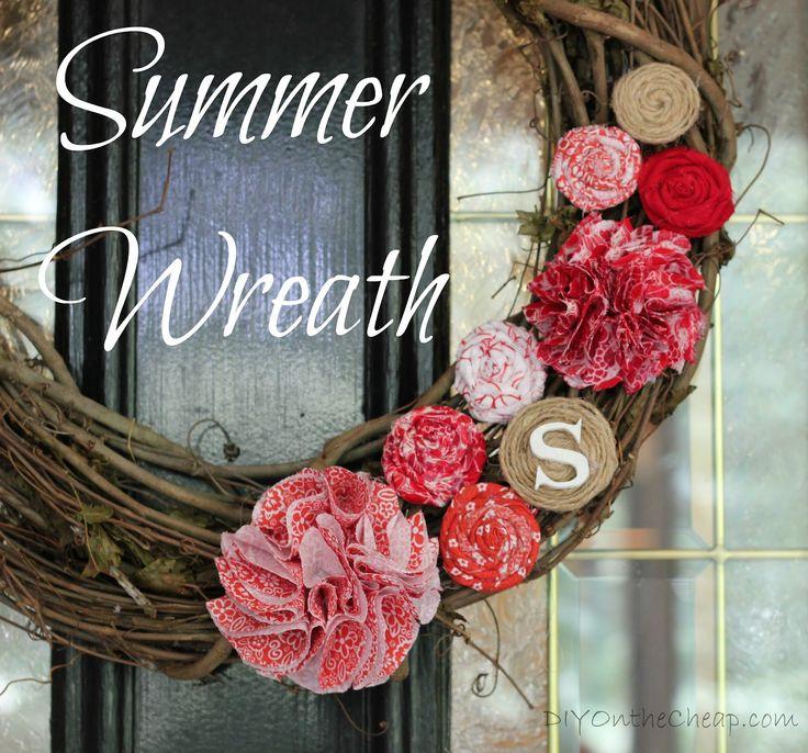 Diy on the cheap summer wreath diy craft ideas pinterest for Diy summer wreath