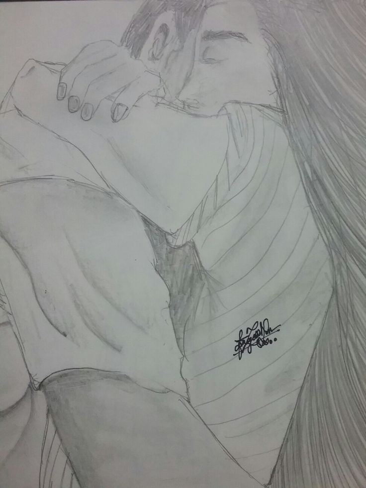 Love is in the air pencil drawing by me