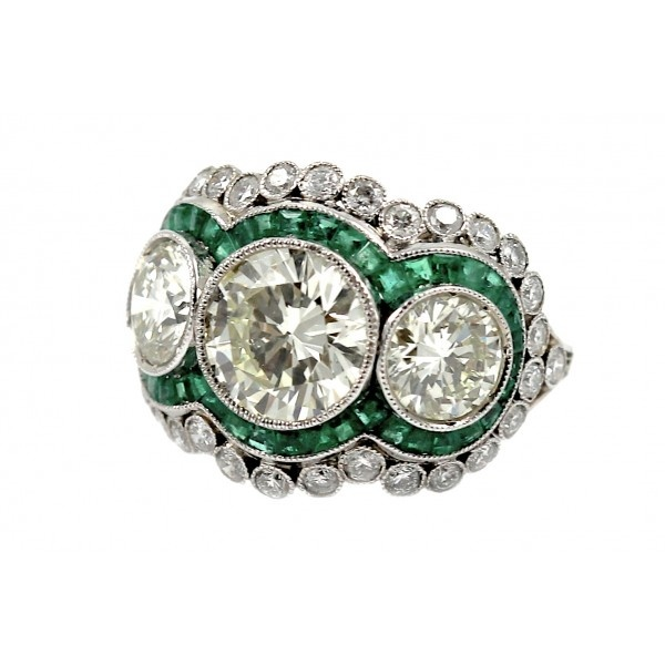 estate emerald and ring my style
