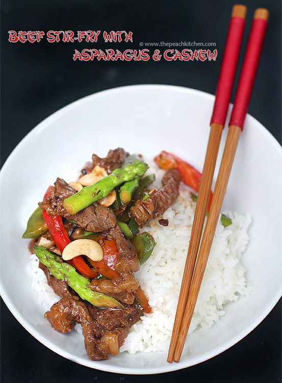 Beef Stir-Fry with Asparagus & Cashew | Food & Drink | Pinterest