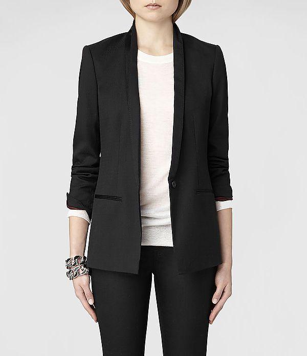 Womens Anita Blazer (Black)   ALLSAINTS.com
