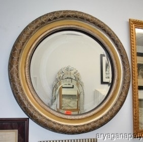 Very large round decorative mirror reflections of for Large round decorative mirror