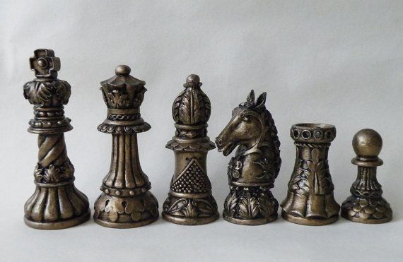 Ornate staunton latex chess moulds molds 9 - Ornate chess sets ...