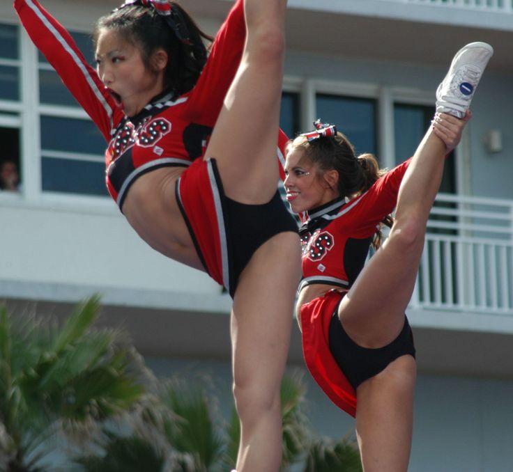 Fullyeposed Legs Sey Slim Cheerleader Barelegs Cheerleading