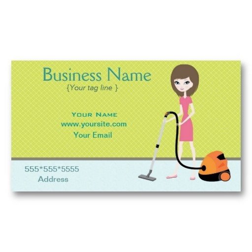 Cleaning service Business Card Business