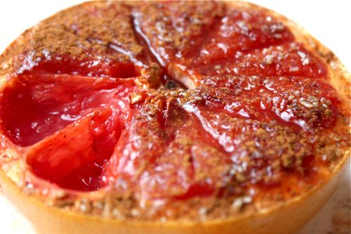 broiled grapefruit. been meaning to try this.
