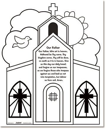 our father color your own prayers catholic crafts pinterest