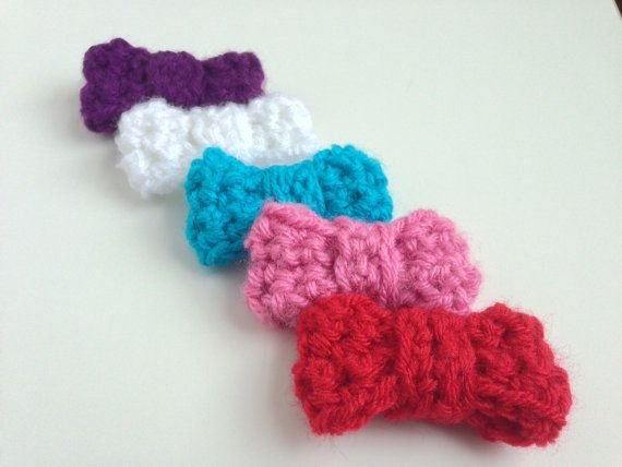 Crochet Hair Bows : Crocheted Hair Bow