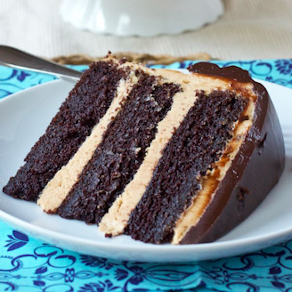 Fudgy Chocolate Peanut Butter Cake | Cakes/Cupcakes | Pinterest