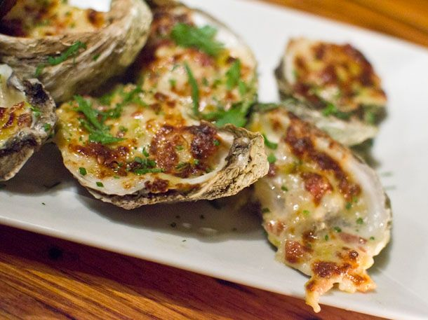 Baked oysters from The Taylor and The Cook in Utica