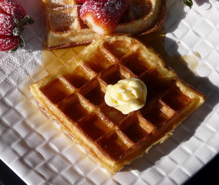 Waffles with Maple Syrup and Butter | Breakfasts - Thibeault's Table ...