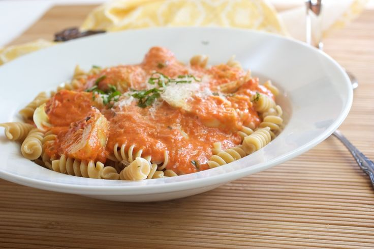 Roasted Red Pepper Pasta Sauce (can be made gluten free)