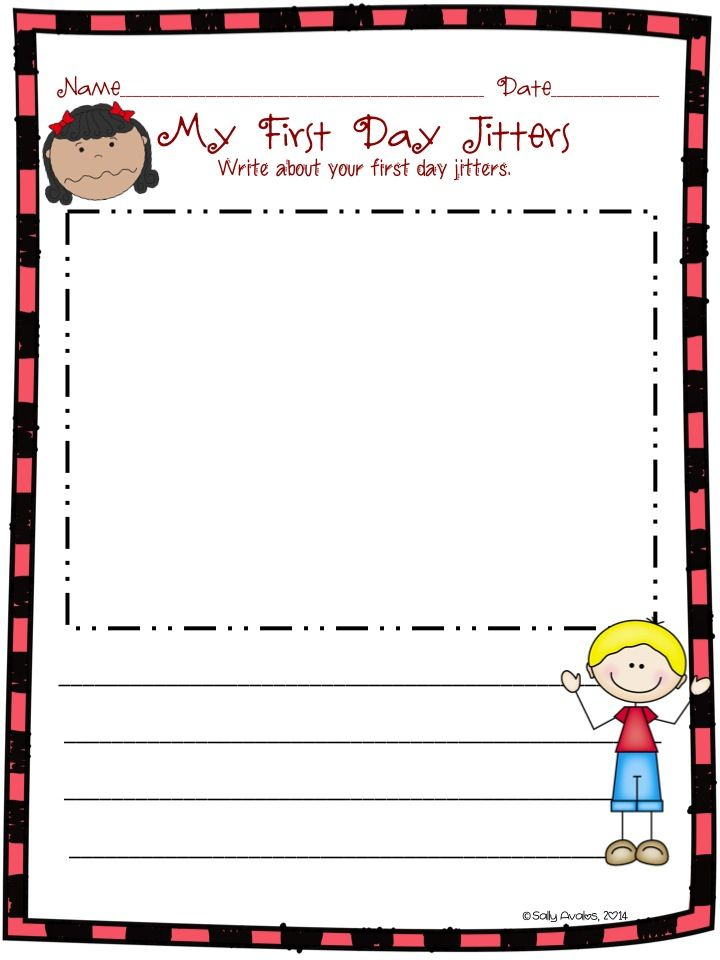 135 page packet of First Day Jitters activities and graphic organizers ...