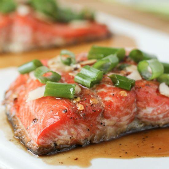 Maple Glazed Salmon with Almonds | Entrees | Pinterest