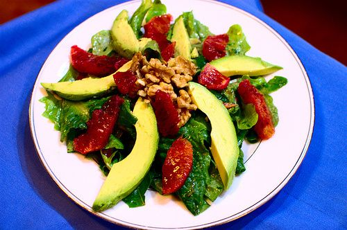 Lentil and Carrot Stew with Avocado-Blood Orange Salad
