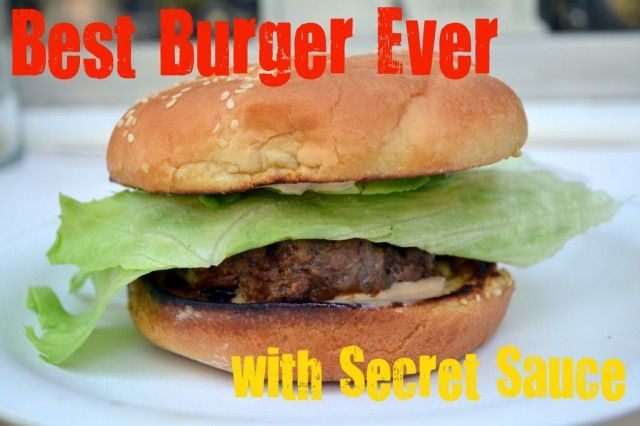 best burger with fry sauce | Grilling Time! | Pinterest