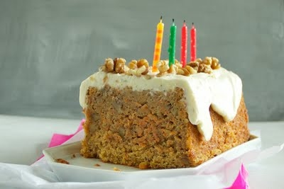 lime mascarpone icing (on top of super moist carrot cake)